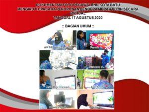 Pegawai BNN Kota Batu melaksanakan Upacara Kemerdekaan ke-75 RI Secara Virtual