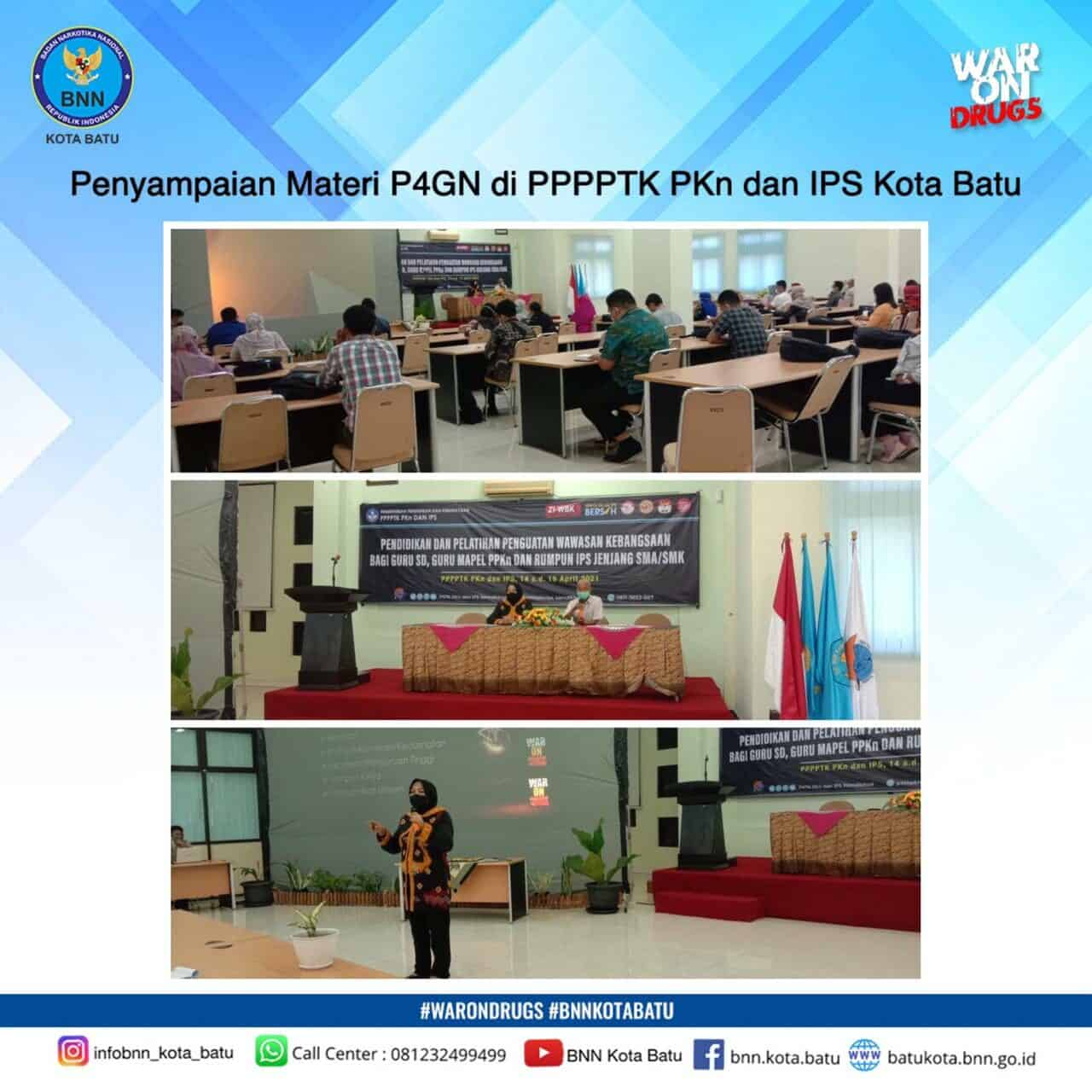 Penyampaian Materi P4GN di PPPPTK PKn dan IPS Kota Batu